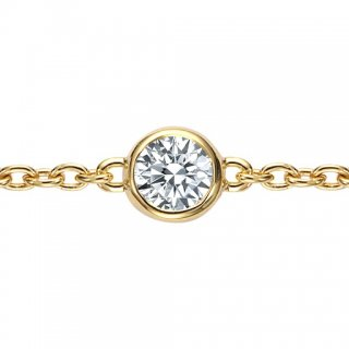 K18 一粒ダイヤモンド ブレスレット Bezel(ベゼル)0.1ct G SI GOOD以上の商品画像
