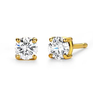 K18 一粒ダイヤモンド ピアス Enchante (アンシャンテ) 0.2ct G SI GOOD以上の商品画像