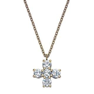 K18 ゴールド クロス ダイヤモンドネックレス Croix(クロワ)  0.41ctの商品画像