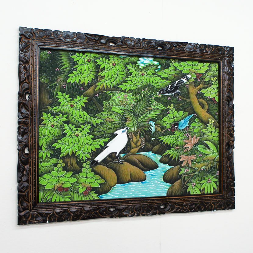 バリ絵画・ブンゴセカン・PA-019-123