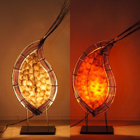 貝殻滴型アジアンランプ