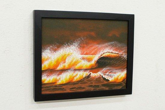 バリ絵画:バリの海・PA-152-7