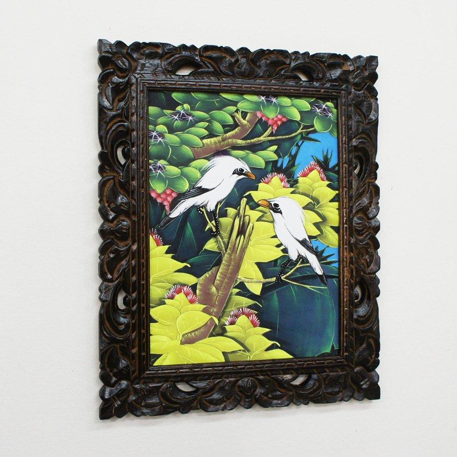 バリ絵画・熱帯花鳥/53*43cm/PA-116-103