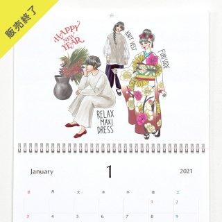 きくちあつこ(oookickooo) | 壁掛けカレンダー(A3)