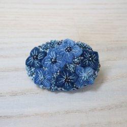 Veriteco   紫陽花オーバルブローチ
