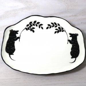 要 美紀 稲穂ねずみ皿 プレート