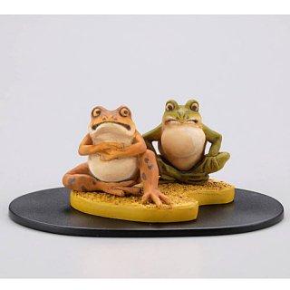 miniQ 河鍋暁斎 画鬼盆景 [3.蛙図(『美人観蛙戯図』より)]【 ネコポス不可 】