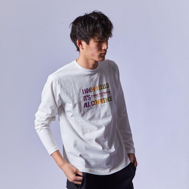 メンズ カラフルロングTシャツ
