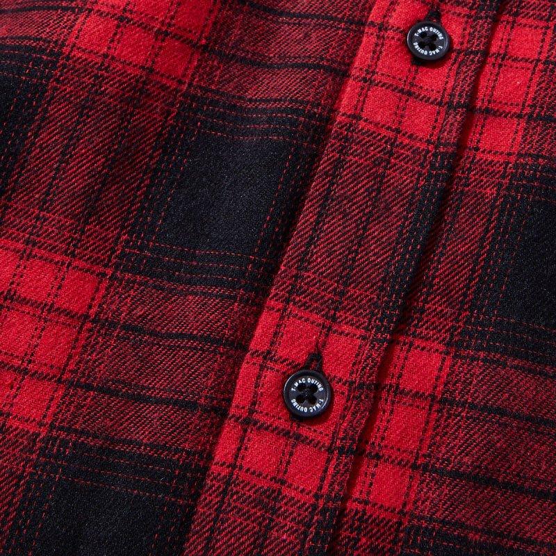 メンズ ネルチェックシャツ