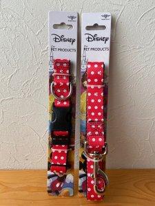 ディズニー公認 隠れミニー首輪&リードのセット