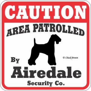 Caution サインボード エアデールテリア