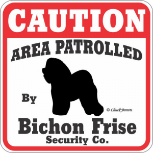 Caution サインボード ビションフリーゼ