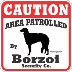 Caution サインボード ボルゾイ
