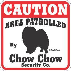 Caution サインボード チャウチャウ