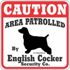 Caution サインボード イングリッシュコッカースパニエル