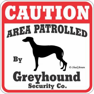 Caution サインボード グレイハウンド