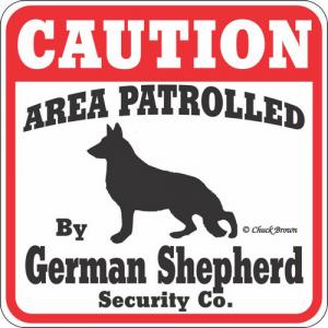 Caution サインボード ジャーマンシェパード