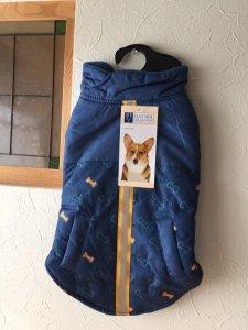 ボーンプリントパフジャケット【L】胴35-45cm★小さめ★
