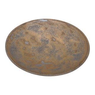 金泥釉 五寸丸皿