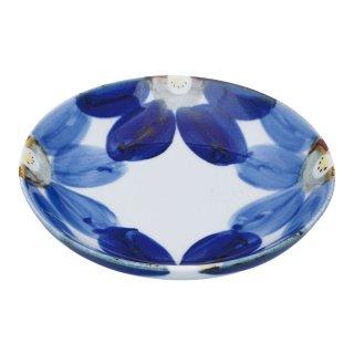 藍花 古代皿(中)