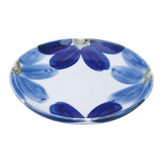 藍花 古代皿(大)