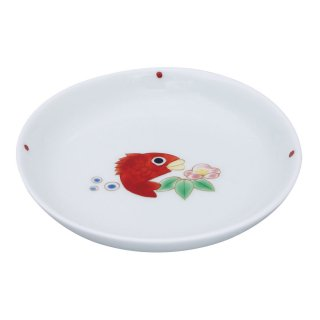 鯛と松竹梅 三寸丸小皿