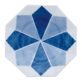 二色濃雪結晶 八角手塩皿