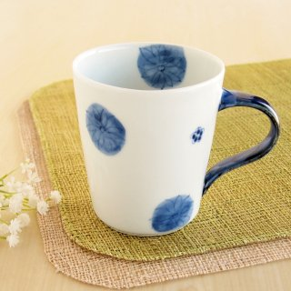 染付濃小花紋 立マグカップ
