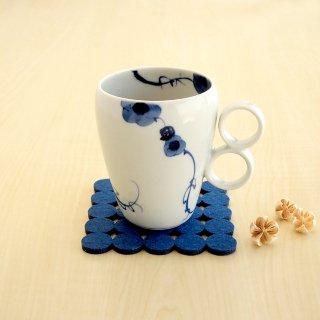 藍染ばらマグカップ