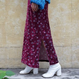 Used Velvet Flower Long Skirt
