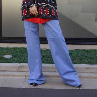 Used Center Press Flare Pants BLUE