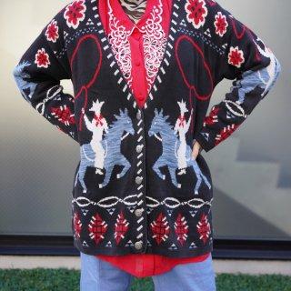 Used Western Cowboy Knit Cardigan