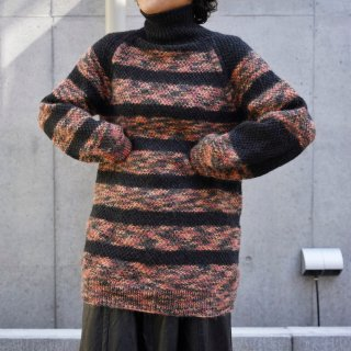Used Border Long Knit Sweater
