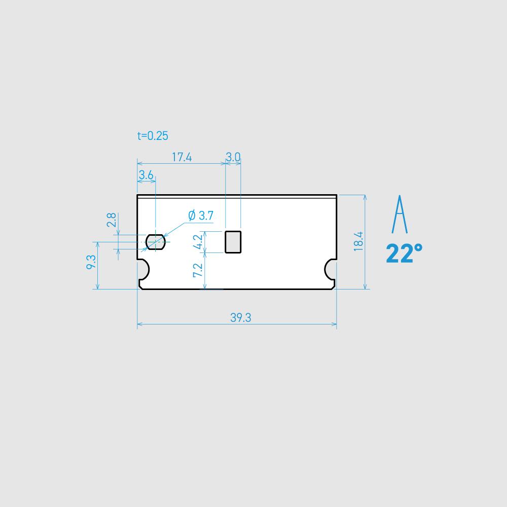 E39-6C-T 22° 炭素鋼(チタンコーティング) 39.3mm 30枚入り