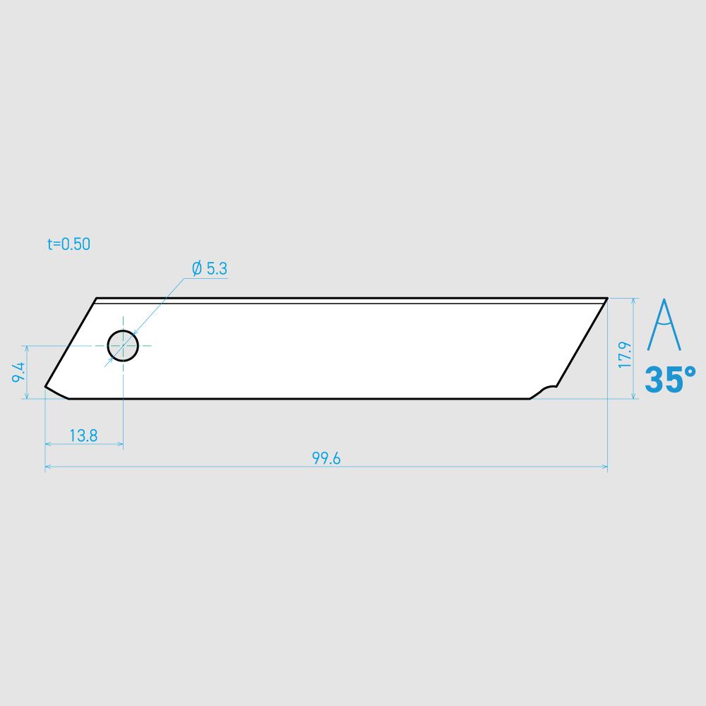 T100-3C 35° 炭素鋼 99.6mm 60枚入り