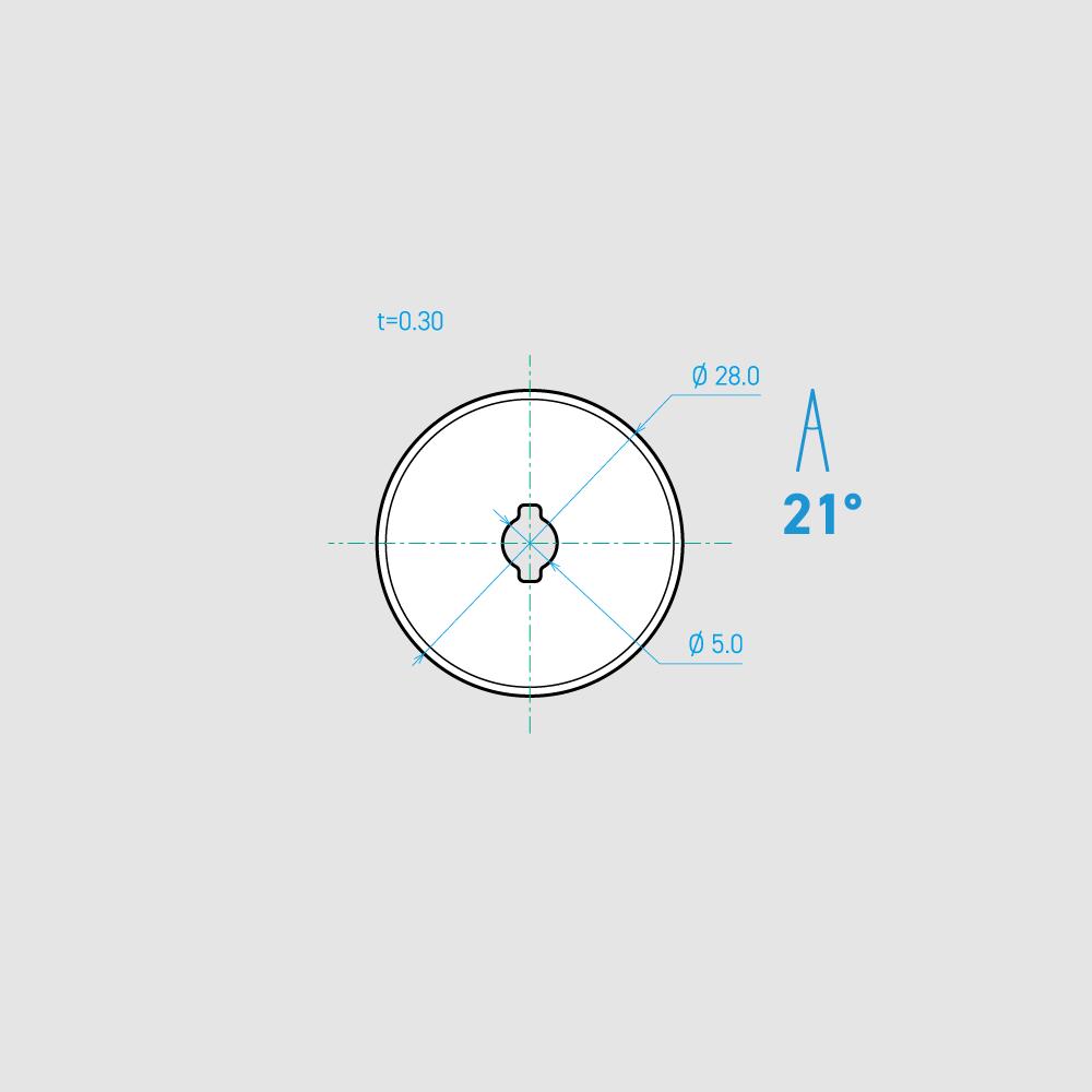C280-1C 21°  炭素鋼 mm 10枚入り