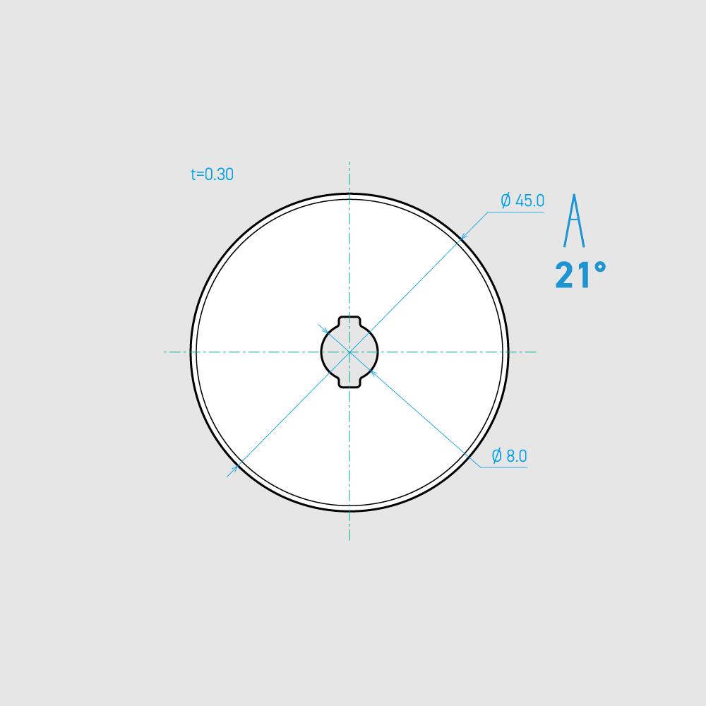 C450-1C 21° 炭素鋼 mm 8枚入り