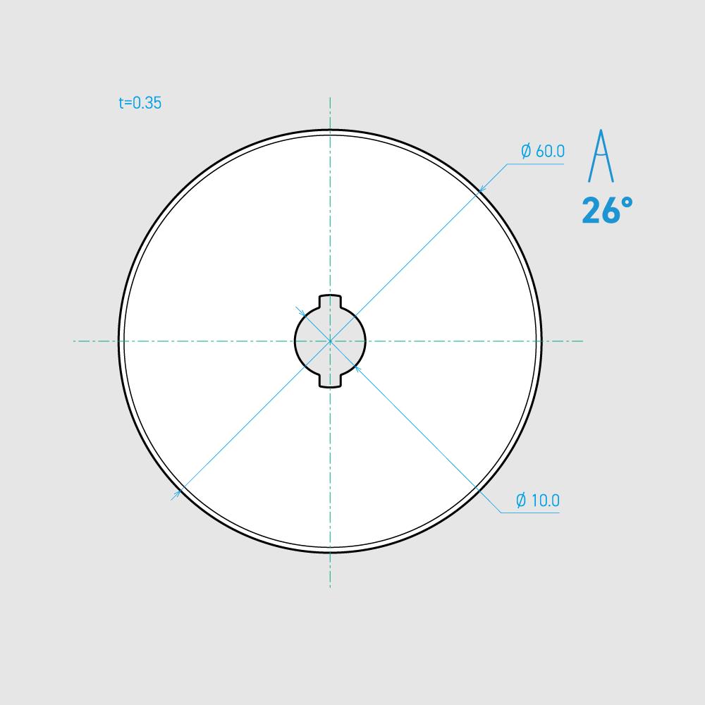 C600-1C 26° 炭素鋼 mm 3枚入り