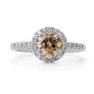 アザリーCollection 1.0ctUP Brown Diamond