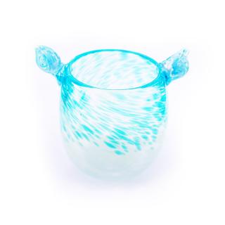 沖縄伝統工芸品コラボ 琉球ガラス 獅子丸しずく