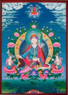 傑作 チベット仏画 パドマサンバヴァ 蓮華生