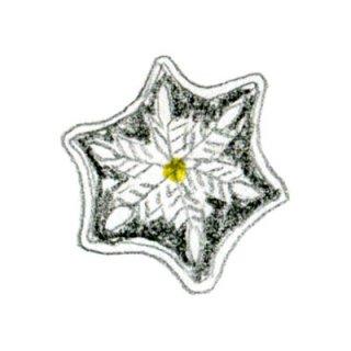 雪のひとひら(黒/白)