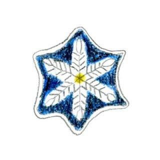 雪のひとひら(青)