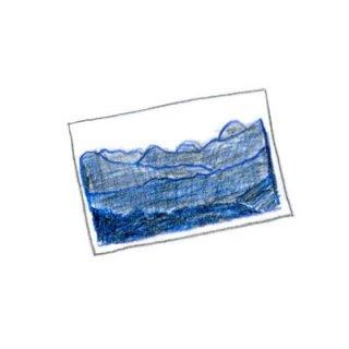 ポストカード 白と藍の森