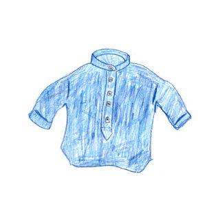 青いシャツ