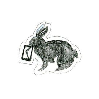 木版画文香「うさぎと手紙」