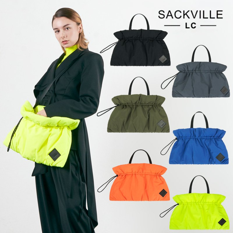 【SACKVILLE】DRAWSTRING CLUTCH / BK