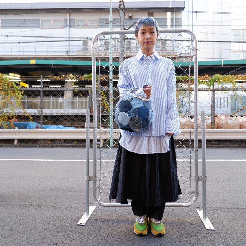 【Ore】サッカーボールバッグ M blue denim