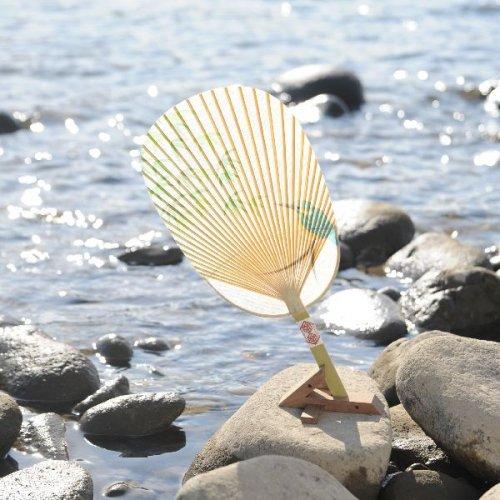 水うちわ 小判型(台座付)I-MU-D