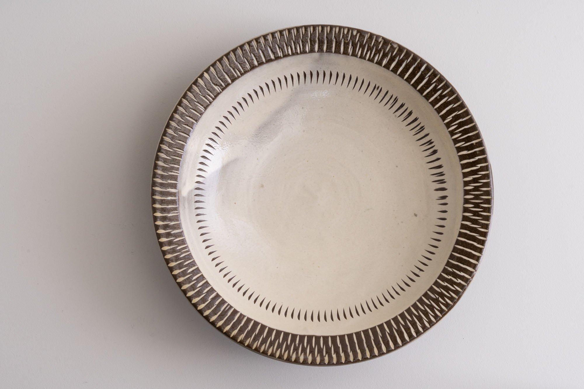 8寸リム皿(象嵌・飛びかんな)A